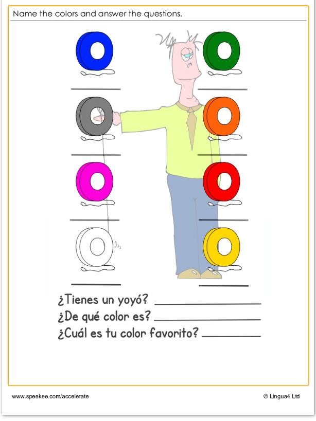Spanish - Colores
